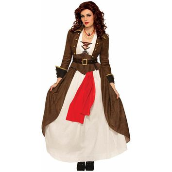 Sexy Steampunk Gothic Women's Pirate Costume Ladies Forum Complete Outfits Fancy Dress Adults Halloween Costumes Deguisement