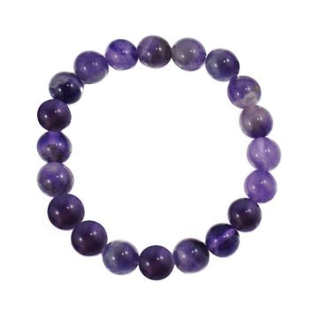 Amethyst Bead Bracelet - Peace and Spirituality