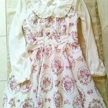 Liz Lisa 16th Anniversary Limited edition 2015 Eiffel Floral Collar Dress Kawaii