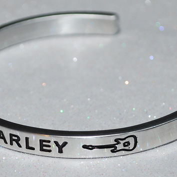 I Love Bob Marley  |  Engraved Handmade Bracelet By Say It and Wear It Jewelry