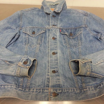 Vintage 80's Light Wash Denim Jacket Made In USA Size 44 Retro Hipster Style Designer