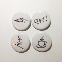 Louis Tomlinson Tattoos Pinback Buttons Set