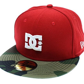 New Era DC Shoes Mens Skate Dynasty 59FIFTY Fitted Hat Cap 7 1/4