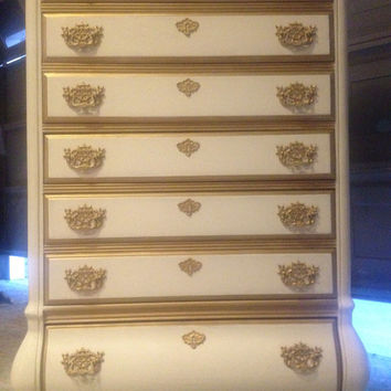 Vintage French Provincial Bombay Chest of Drawers
