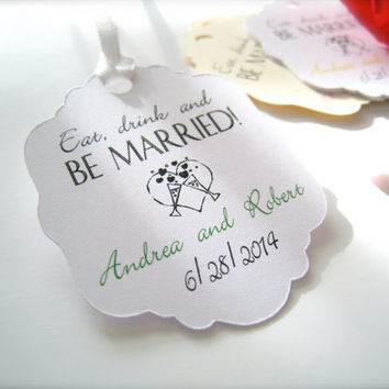 Wedding favor tags, custom gift tags,party favor tags, thank you tags - 30 count