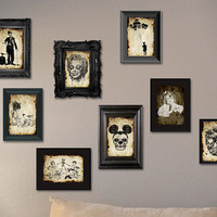 8 postcards at your choice digital postcard gothic gift unique original frame skull funny art