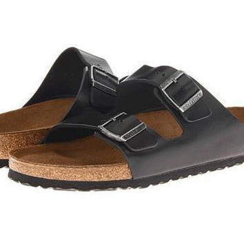 Beauty Ticks Birkenstock Arizona Soft Footbed Black Amalfi Leather