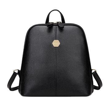 New Fashion Women PU Leather Backpack Mini Backpack Rucksack Girls School Bag for Teenager Girls Mochila Shoulder Bagpack Female
