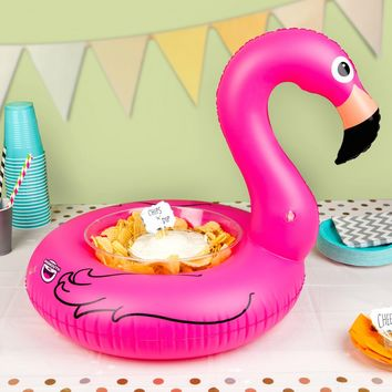 Inflatable Pink Flamingo Serving Ring (Perfect for Chips, Fruit, Ice, Party Favors) - PRE-ORDER, SHIPS LATE MARCH