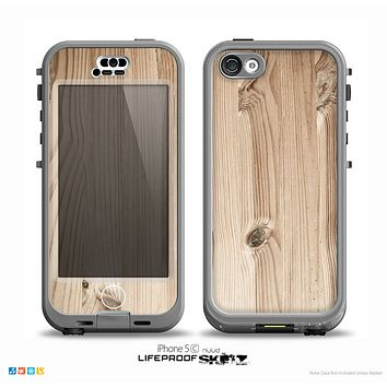 The LIght-Grained Wood Skin for the iPhone 5c nüüd LifeProof Case