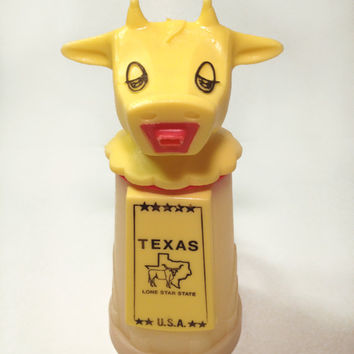 Vintage Texas Cow Creamer/Sippy Cup by Whirley by ModernFiction