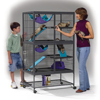 Midwest Homes For Pets Ferret Nation Double Unit Cage