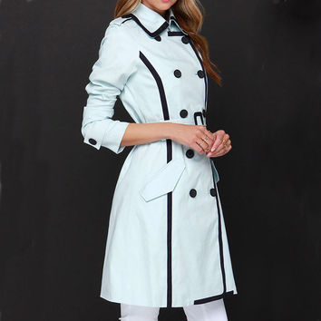 Fashion double-breasted lapel coat