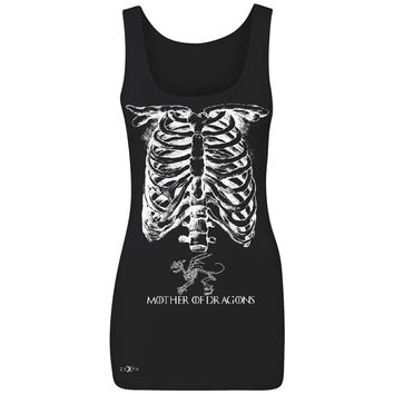 Mother Of Dragons X-Ray Rib Cage Women's Tank Top Pregnant Halloween Costume Got Throny Sleeveless