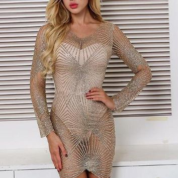 Sugar Mini Dress - Gold