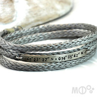 Longitude Latitude Bracelet Sterling Silver with by MCDecarie