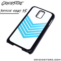 Chevron White Blue Case For Samsung Galaxy S5 Case