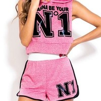 I Wanna Be Your #1 Athletic Two Piece Set - Slimskii