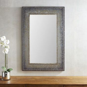 Gray Mosaic 32x48 Mirror
