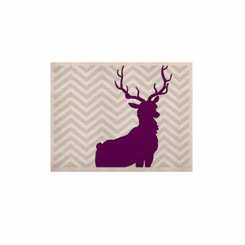 "Suzanne Carter ""Chevron Deer"" Purple  KESS Naturals Canvas (Frame not Included)"
