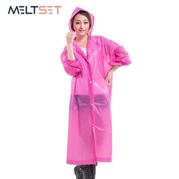 Long Raincoat for Women Portable Hiking Rain Coat Motorcycle Rainwear Travel Rain Cover Waterproof Rain Jacket Bike Rain Poncho