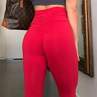 Casual Pants Summer Hot Sale Women's Fashion High Waist Hip Up Yoga Sportswear [200325595151]