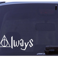 Deathly Hallows Always Car Decal,Harry Potter,sticker,vinyl,Car Vinyl Car Decal Full Colour Vinyl Window Sticker Car Bumper Decal -Fits Mugs