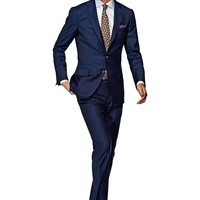 Suit Blue Check La Spalla P3865i | Suitsupply Online Store