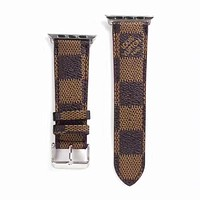 Designer Brown Damier Apple Watch Leather Bands