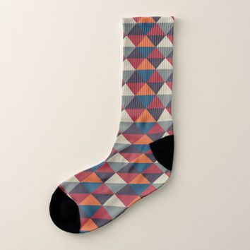 Native American Pattern Mayan Aztec Symbols 23 Socks