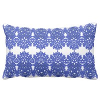 Openwork pattern in the style blue-chinoiserie pillow