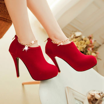 Round Toe High Heel Shoes Exclusive Design  Women's  Autumn  Pumps