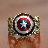 Captain America ring The best gift