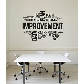 Vinyl Wall Decal Improvement Words Cloud Office Space Interior Art Stickers Mural (ig5751)