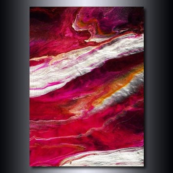 Abstract 5x7 Print: Magenta Orange White Abstract