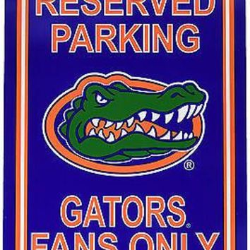 Florida Gators RESERVED Large 12x18 Plastic Wall Parking Sign University of