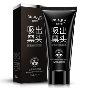 Brand Skin Care BIOAQUA Facial Blackhead Remover Deep Cleaner Mask Pilaten Suction Anti Acne Treatments Black Head Mask 60g