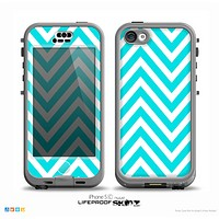 The Trendy Blue Sharp Chevron Pattern Skin for the iPhone 5c nüüd LifeProof Case