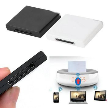 1pcs Bluetooth A2DP Music Receiver Adapter for iPod For iPhone 30-Pin Dock Speaker