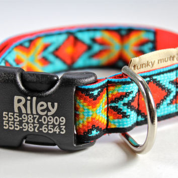 Personalized laser engraved dog collar in Faux Bead by FunkyMutt