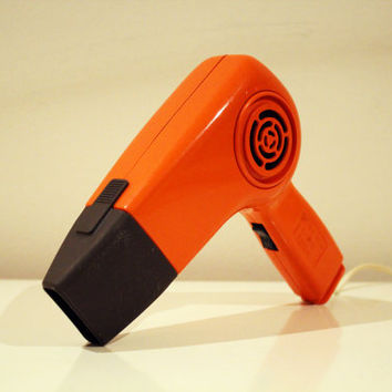 Vintage Hot Orange 1975 Philips hair dryer, collectors item