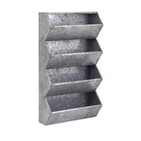 Carter Industrial Style Galvanized Wall Organizer