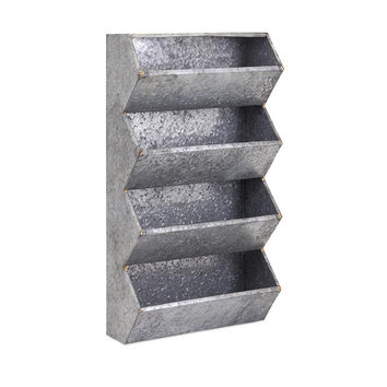 Carter Galvanized Wall Organizer