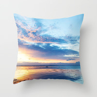 Sunset Throw Pillow by Mareike Böhmer Graphics
