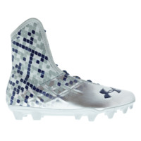 Under Armour Highlight MC Lax Cleats - Silver/Navy | Lacrosse Unlimited