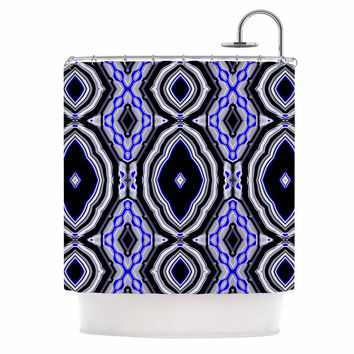 "Dawid Roc ""Inspired By Psychedelic Art 3"" Purple Abstract Shower Curtain"