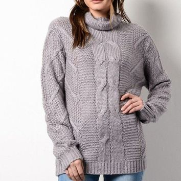 Up the Ante Chunky Knit Sweater - FINAL SALE