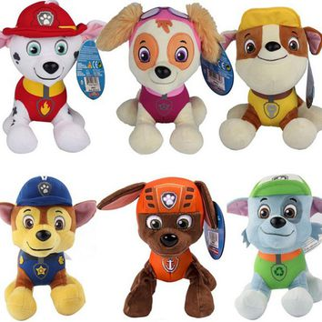 2017 6 style for PAW Patrol Dog Anime Kids Toys Puppy Toy Action Figure Plush Doll Model Stuffed and Plush Animals Toy