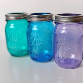 Stained/Tinted Waterproof Mason Jar (Pint)