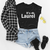 It's Laurel Shirt, Funny Yanny or Laurel T-shirt, Team Laurel Tshirt, Is it Laurel or Yanny Tee, Womens Top-Unisex Shirt, Laurel Sweatshirt
